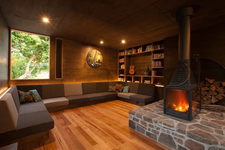a cozy lounge to tell the stories of the day!