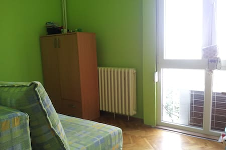 Two rooms with two double beds each. Available kitchen, bathroom, near the fortress.