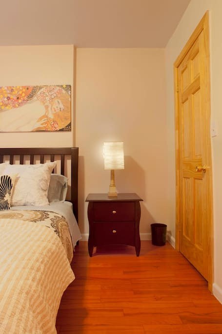 Master bedroom has a walk in closet and is very spacious.