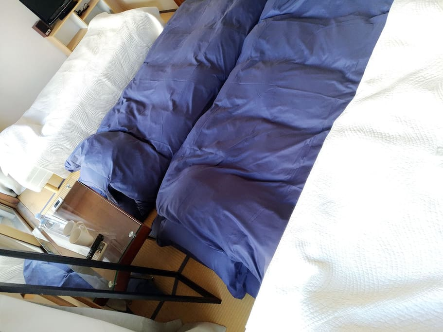 2 futon, max 4 people