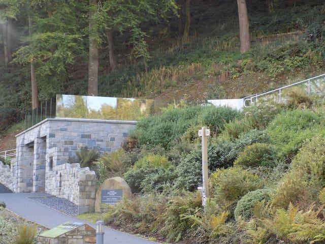 Amphitheatre at Plas Glyn-y-Weddw.
