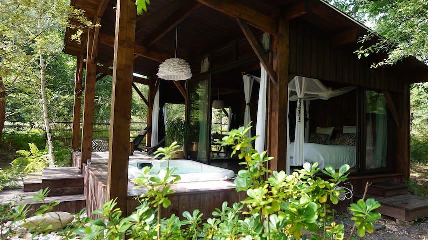 Cabane Lodge et spa sud Gironde