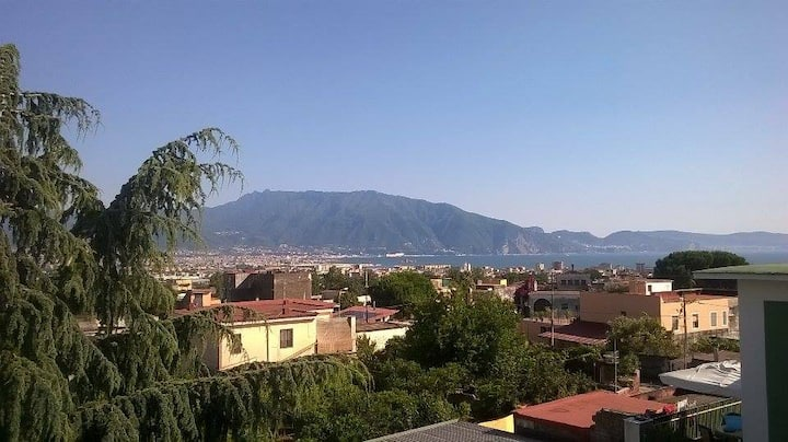 Vista mare/Vesuv a 5 min. da Pompei