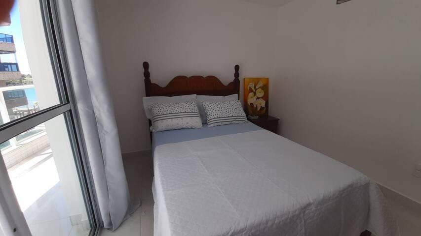 Quarto 1 - cama de casal, ar condicionado split