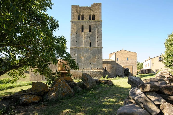 Medieval Tower in Ancient Abbey - Castle