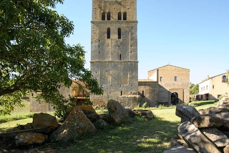 Medieval Tower in Ancient Abbey - Tuscania (VT)