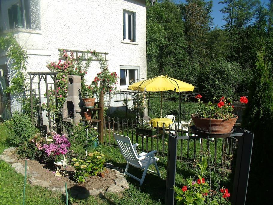 une partie du jardin détente !