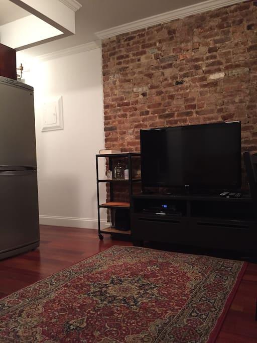 Living space and flatscreen TV