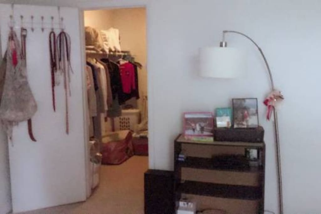 Very spacious walk-in closet