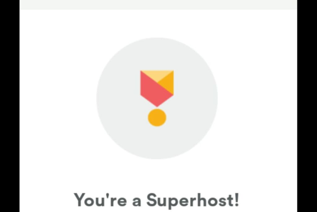Awarded Superhost by Airbnb