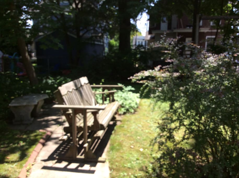 Garden setting in back yard