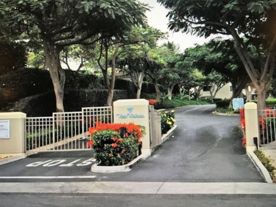 Gated entrance to Vista Waikoloa