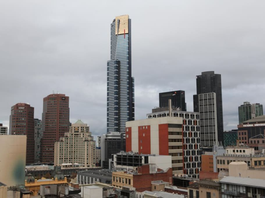 View of Eureka Tower from the balcony