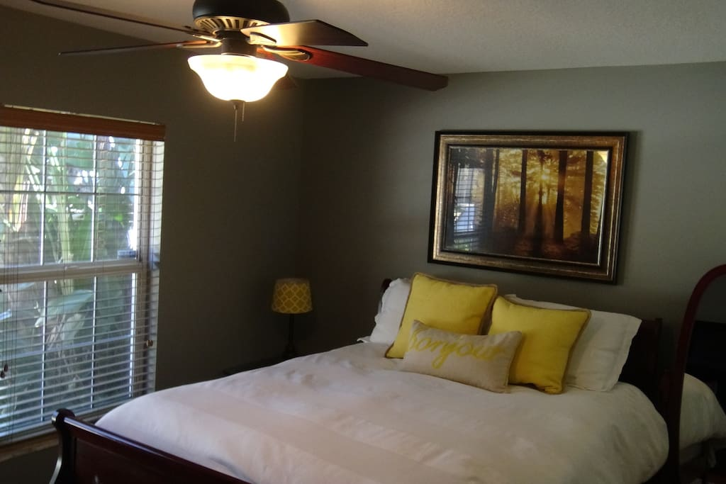 """Guest Room with side closets, 55"""" HD TV"""