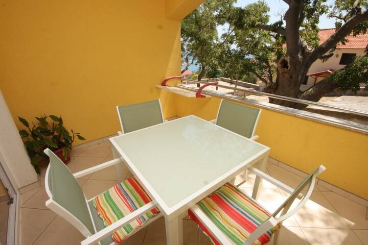 Two bedroom apartment with terrace Sali, Dugi otok (A-8137-a)