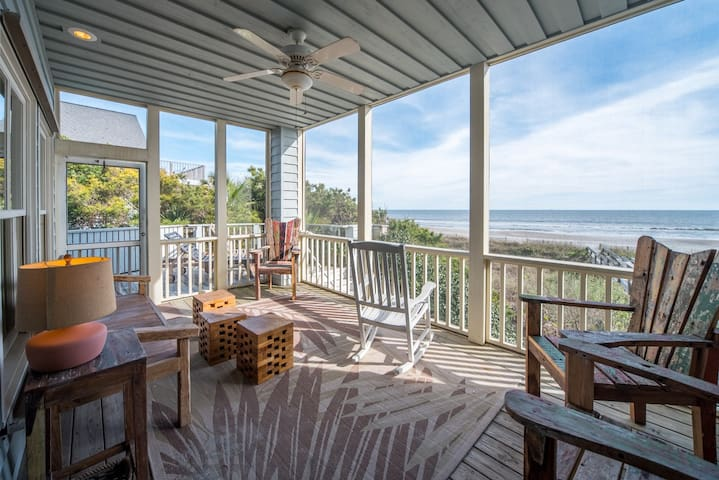 Livin Easy | Beautiful Oceanfront View | Pet Friendly | Steps from County Park | Large Private Deck
