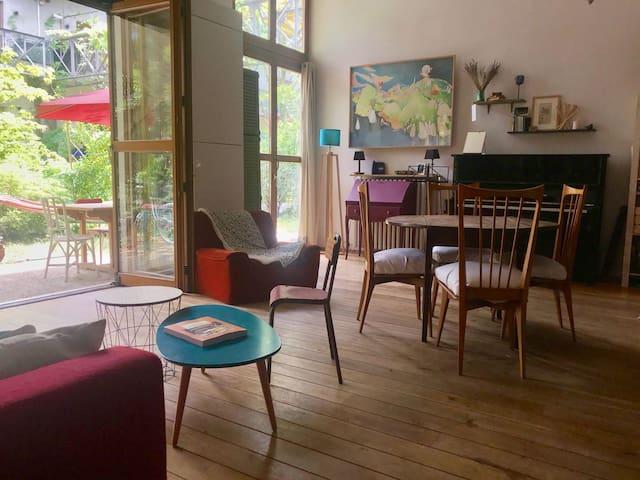 Loft avec jardin à 300 mètres de Paris