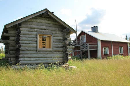 Authentic cabins near the Hossa National Park