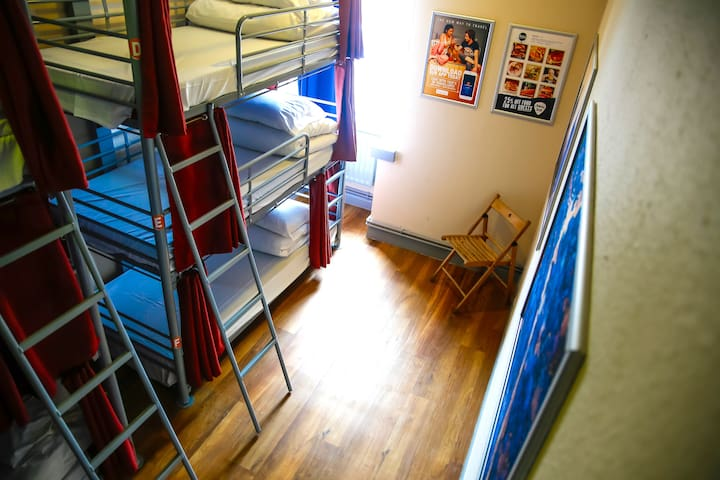 Bed in 9-Bed Mixed Dorm