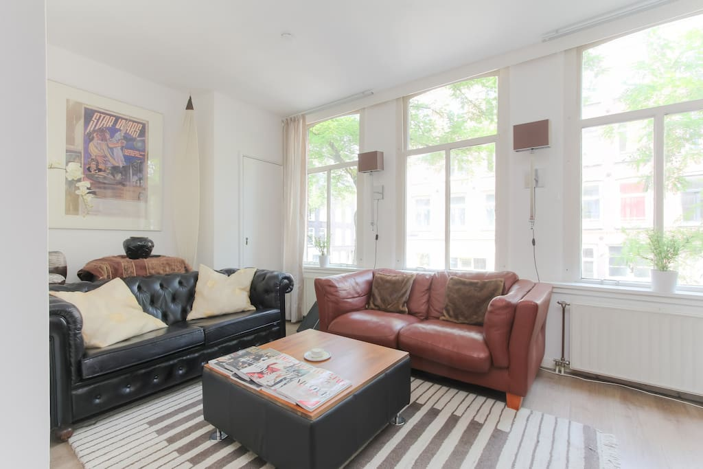 The living area is both comfortable and cozy.