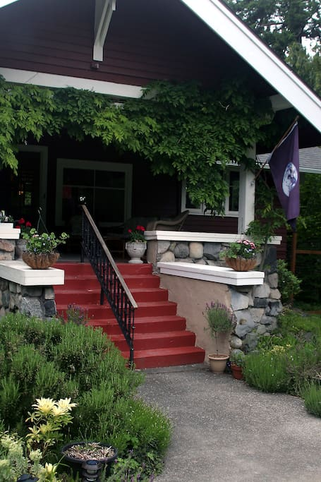 The front steps