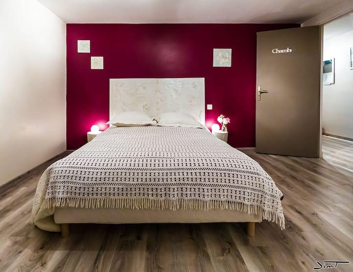 Guest Room ' Soft Escape' in a quiet environment.