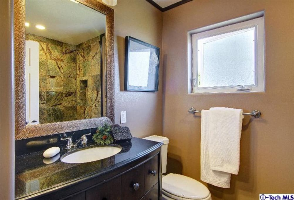 Your private bathroom with shower & spa with jets.