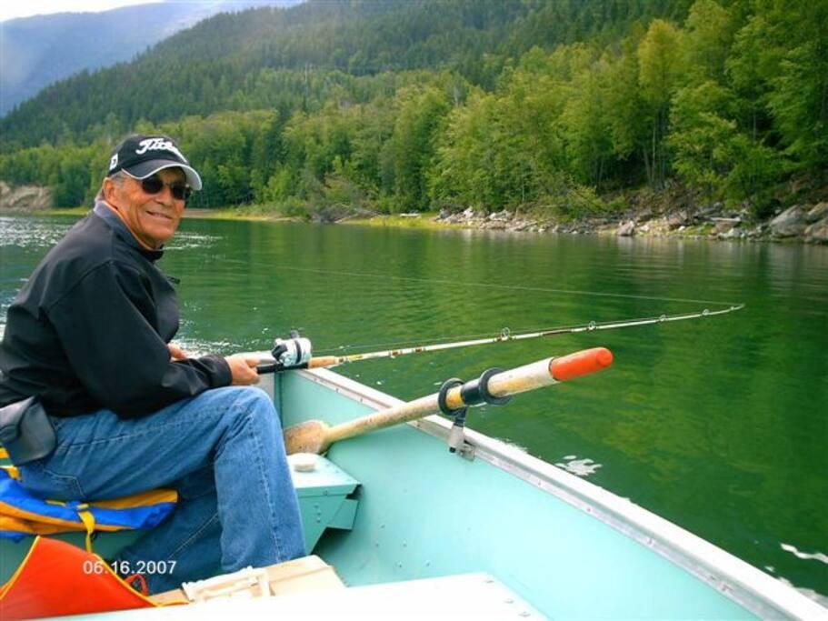 Fishing ou from shore