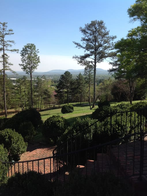 This is the view from the front porch looking out to Mt. Cheaha.
