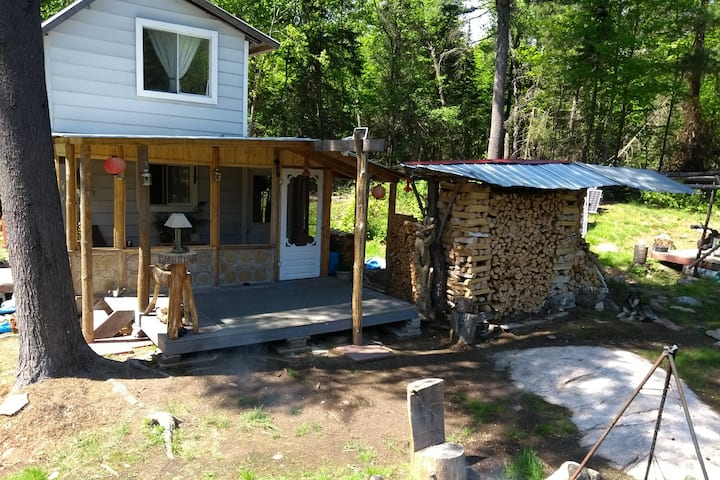 OFF-GRID, TINY HOUSE, BY WATERFALL