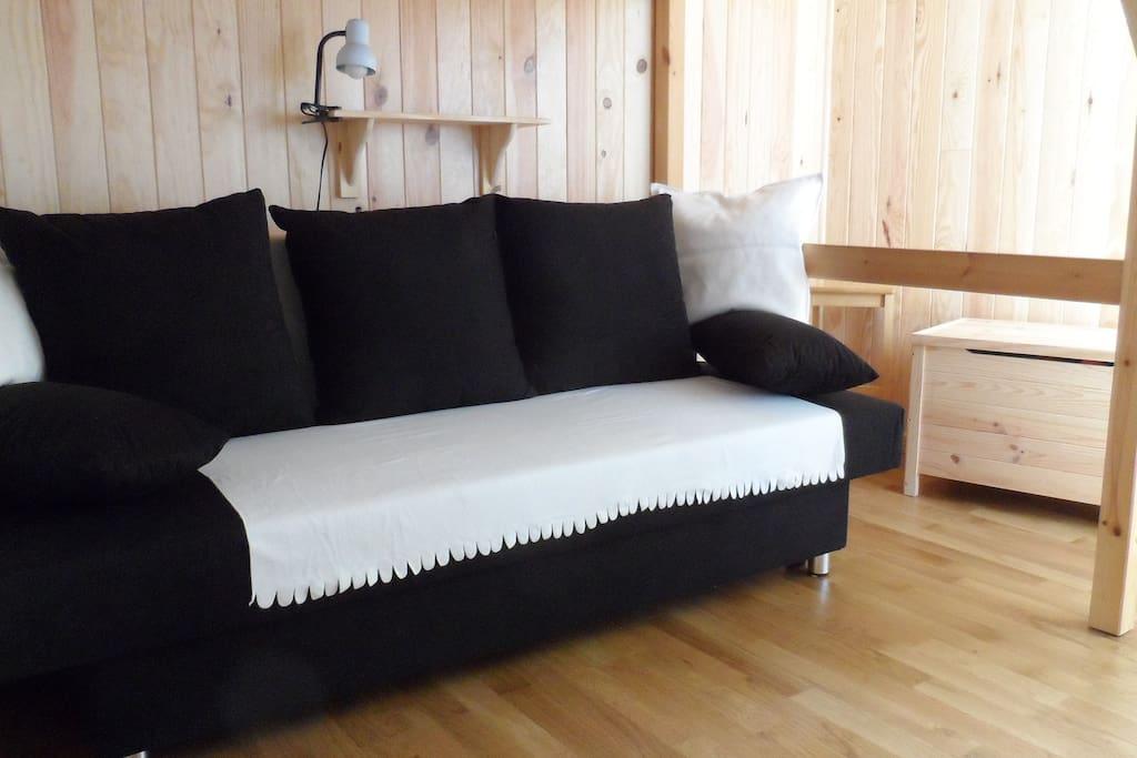 Confortable canapé convertible en 90 ou en 140