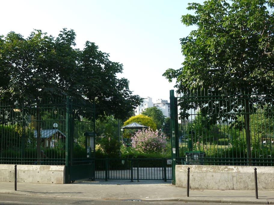 Parc Vuillemin en face de notre cour