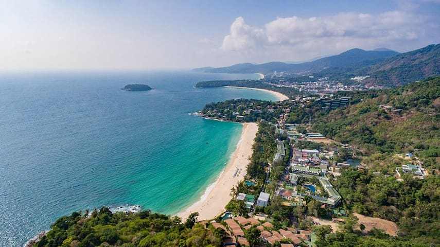 Kata viewpoint, a great photo opportunity, just 5 minute drive from The Majestic on the road to Kata beach. You can see Kata Noi, Kata and Karon beaches from there. Patong is the peninsula on the top of the photo.