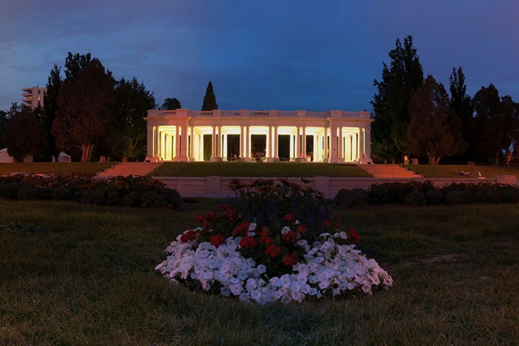 Cheesman Park at Night, it's across the street. Built in 1901, this park is the gem of Denver and the envy of the city. And you're less than a block from this oasis of recreation and beauty.