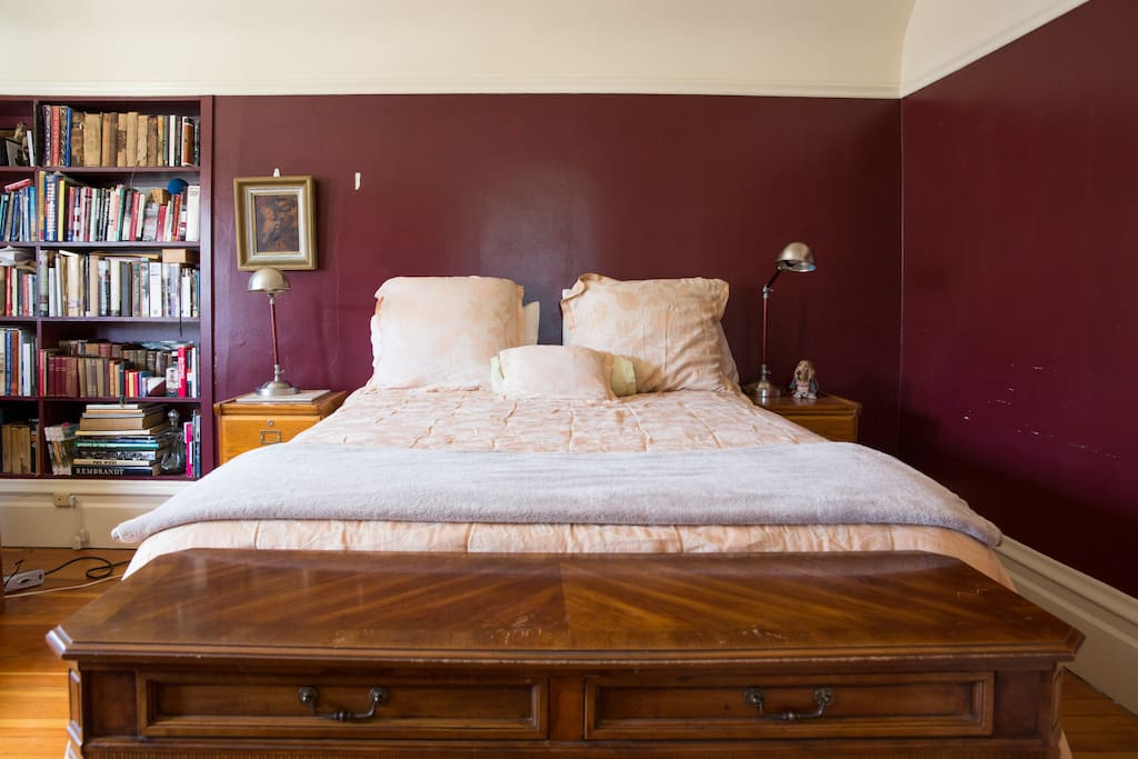 This is the front bedroom queen bed which is brand new.