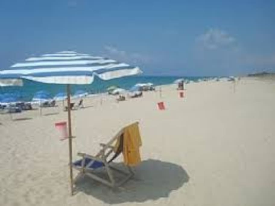 Marinella Mare Beach 3 minutes walk