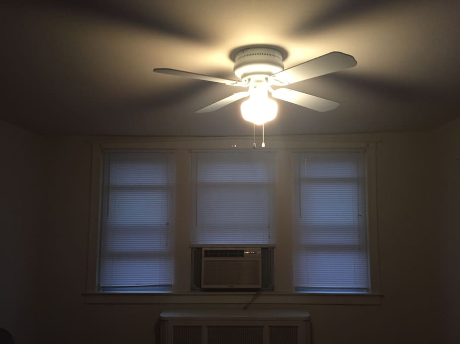 Living room ceiling fan, air conditioner