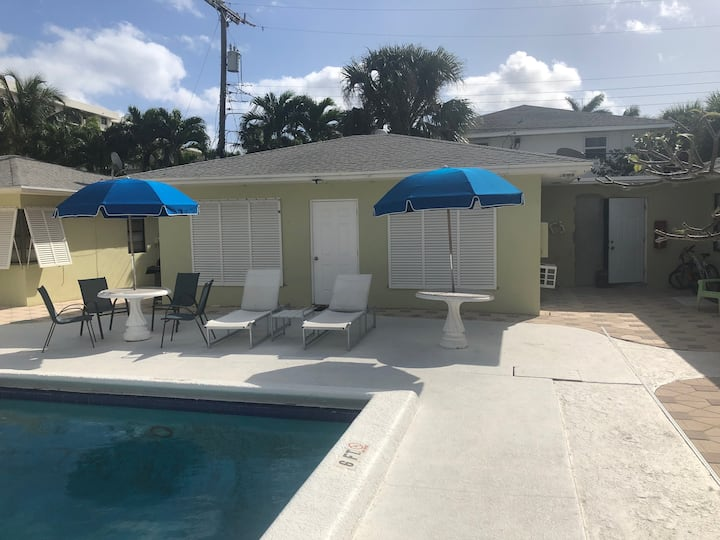 Standalone 1/1  Across From Beach and Next to Pool