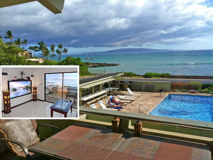 Ocean View 1BR @ The Shores of Maui upscale style