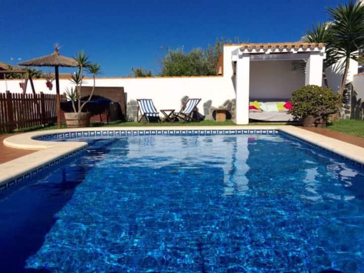 Private Villa fenced pool, perfect for children