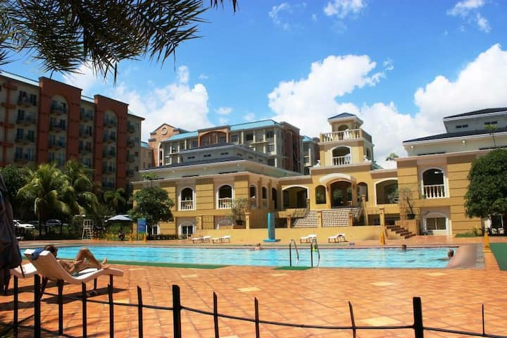 2BR Resort Type Condo with Balcony and Pool View