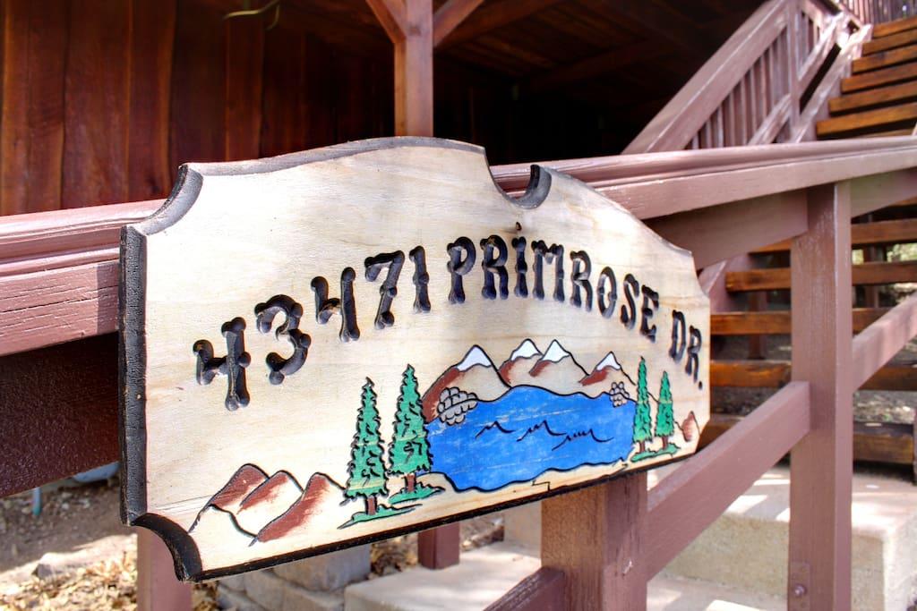 Cabin address in Big Bear