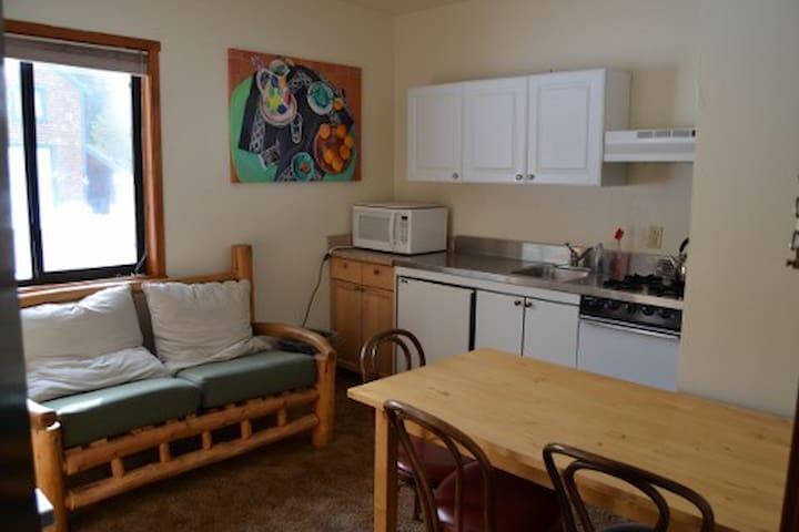 Chalet Kitchenette-private bathroom-Tamarack Lodge