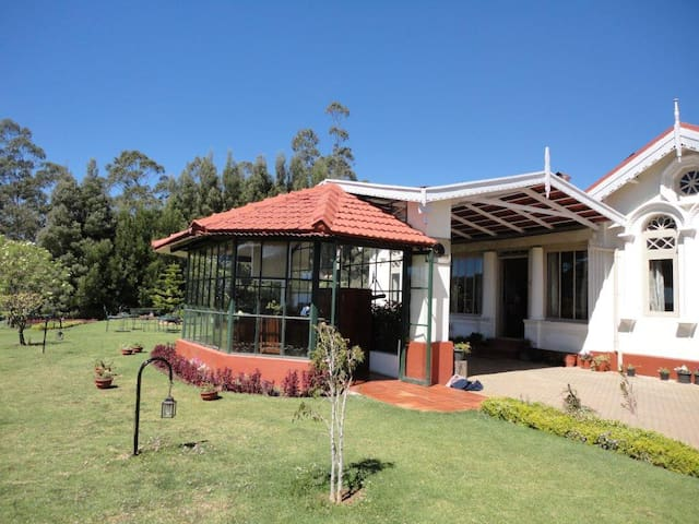 Private rooms with fireplace at ooty