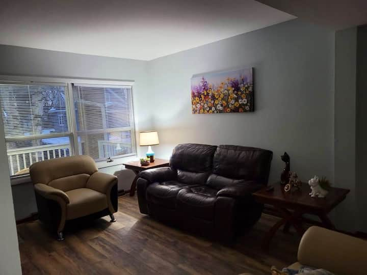 Apartment downstairs. Modern, close to downtown.