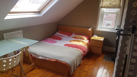 Double room in a comfortable home in Gosforth.