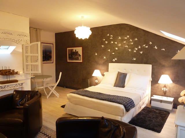 chambre OCEANE à la Chandanielerie - Quimper - Bed & Breakfast