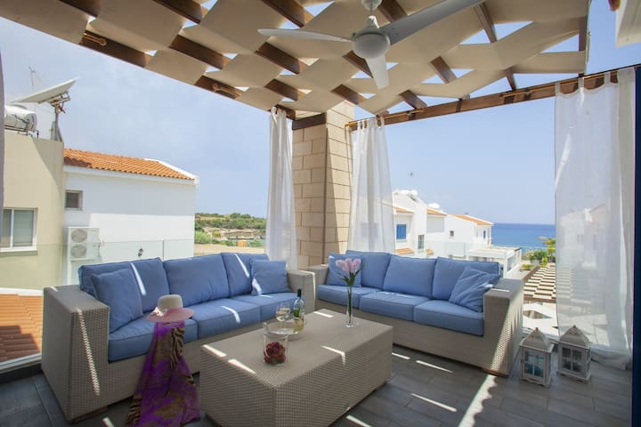 Anafi Sea Views, 1 min to the beach - Paralimni - Villa