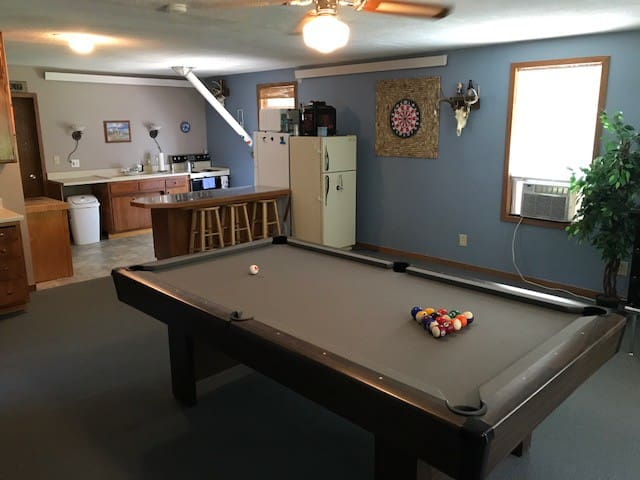 Living Space with Billiards, Darts, Cable TV, Bar, etc.