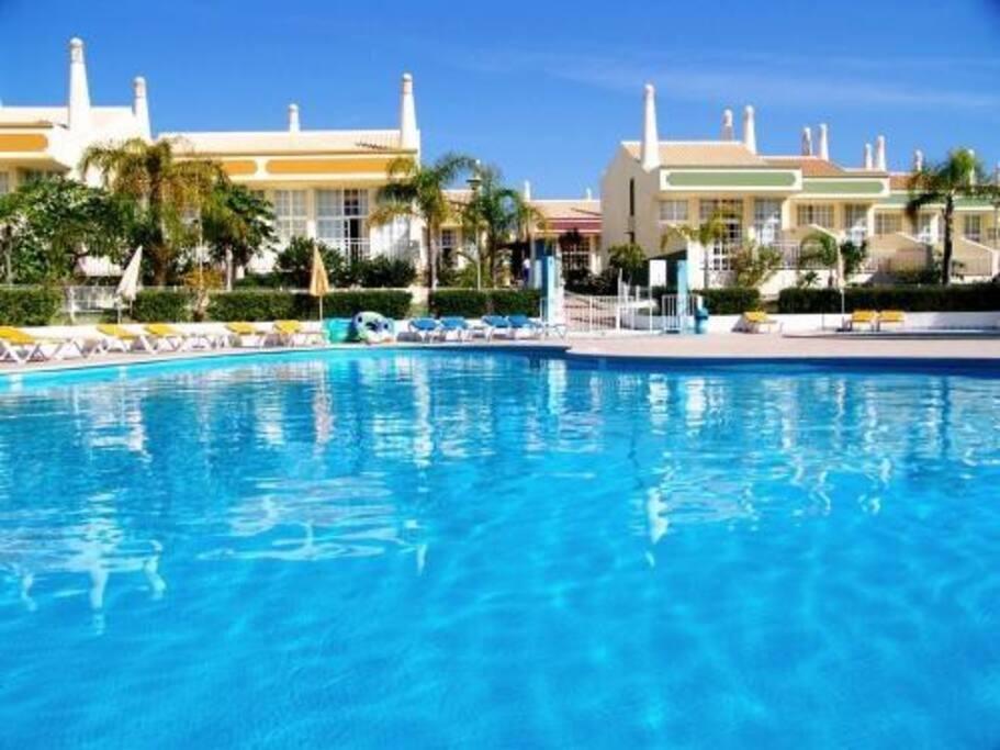 Villas and Pool